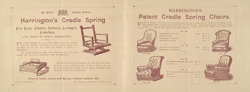 Advert For Harrington's Cradle Spring Chairs reverse